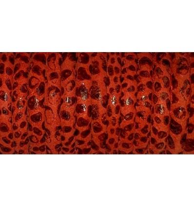 Rojo escamas 5mm cosido (napa)