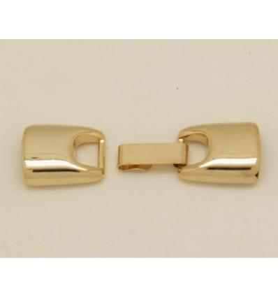 cierre pestaña 12mm dorado